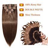 Best Extensiones de cabello - Extensiones de Cabello Natural Clip Pelo Humano Double Review