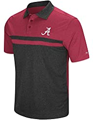 "Alabama Crimson Tide NCAA ""Bails"" Men's Performance Polo shirt Chemise - Black"