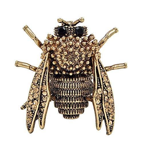 CCJIAC Vintage Style Spring Bugs Broschen für Frauen Mode Cicada Beetle Brosche Pin 2 Farben erhältlich