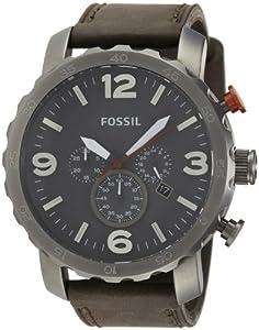 Reloj Fossil JR1419 de cuarzo para hombre con correa de piel, color gris de Fossil