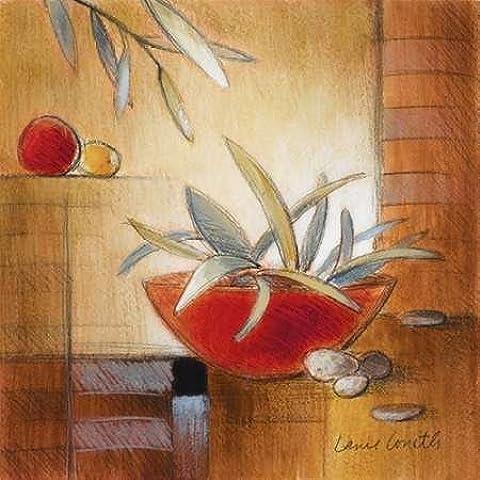 Impresión de Arte Fino en lienzo : Afternoon Bamboo Leaves IV by Loreth, Lanie - pequeña (50 x 50