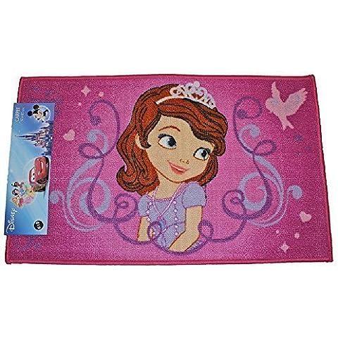 Disney Sofia la principessa Uccelli Cuori Stampa Tappetino Bedroom Carpet Porta Tappeto rettangolare 50x 80cm