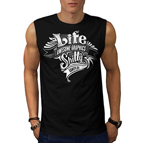 Militär-armee-scharfschütze-t-shirt Top (Leben Schlecht Gameplay Gaming Grafik Herren S Ärmellos T-shirt | Wellcoda)