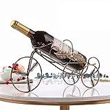 Goquik Piccola bottiglia decorativa decorativa per bottiglie da vino con cremagliera, bancarella da esposizione europea per biciclette, espositore da cucina, soggiorno, cucina, ferro da stiro, mensola