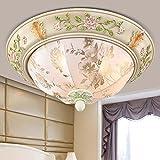 KHSKX HUHU-stil Deckenleuchte einfache europäische Licht elegante Muster Schlafzimmer Balkon Lampe leuchtet die Lampe Gang 52cm