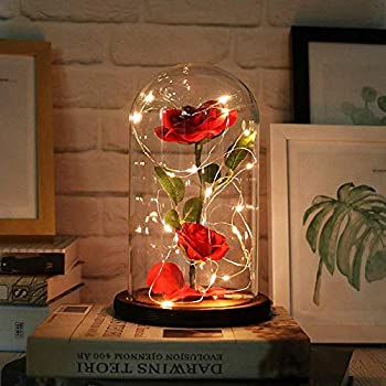 Kobwa Quot Beauty And The Beast Quot Enchanted Rose Elegant Glass