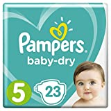 Pampers - Baby Dry - Couches Taille 5 (11-16 kg) - Pack Small (x23 couches)