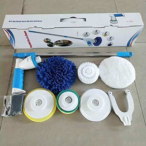 RVTYR Elektrische Rotations Mop, Wiederaufladbare Reinigung Hand Spinning Mop, elektrischer Rotations Mopp, Haushaltsreinigungsbürste, Holzboden Wachsmaschine