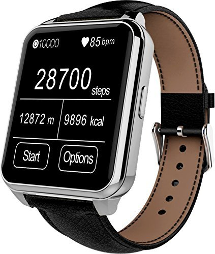 Develop F2 Smartwatch Heartrate Test IP67 Waterproof MTK2502 Bluetooth Smart Watch WristWatch With Pedometer Anti-lost Camera for IOS iPhone 5/5s iPhone 6/PLUS Android Samsung, HTC and other Smartphones (Silver)
