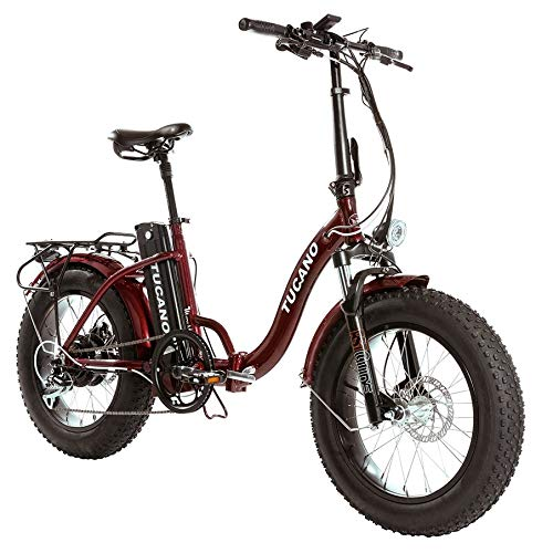 Monster 20″ LOW-e-Bike Plegable - Suspensión Delantera - Motor 500W (Rojo)
