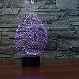 Nuovo Le luci notturne 3D hanno portato 7 lampade da tavolo modellanti colorate per vigili del fuoco USB Camera da letto Comodino Decor Vigili del fuoco creativi Sonno Illuminazione Regali