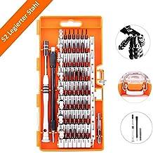 60 en 1 Destornilladores de Precisión Set, Kit de Destornillador Completo Herramientas de Presición, Incorpora 58 Cabezales Aptos para Todo Tipo de Tornillos ( Estrella, Planos, de Cabeza Cuadrada, etc)