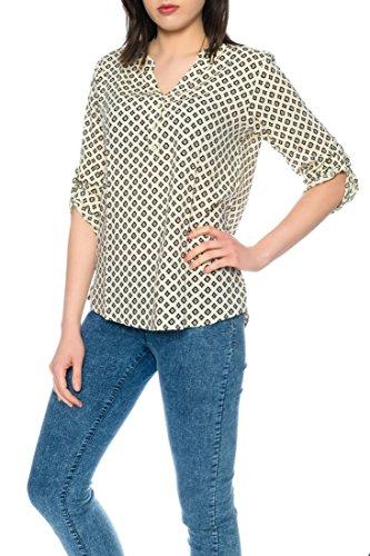 Dress Sheek Damen 3/4 Tunika Oberteil T-Shirt Top Normale und Übergrößen Große Größen Gemustert Lüftig Basic Bluse DS098