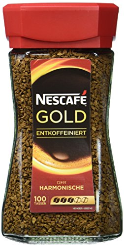 Nescafe Gold entkoffeiniert, 1 x 200 g Glas