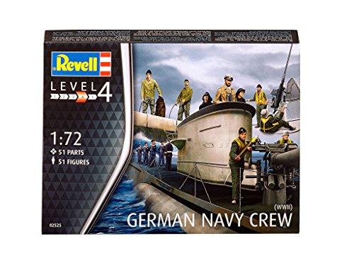 Revell Modellbausatz 02525 - Deutsche Marinefiguren, WWII (Figurensatz) im Maßstab 1:72