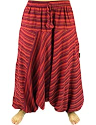 Haremshose Pluderhose Pumphose Aladinhose aus Baumwolle rot / Pluderhosen und Aladinhosen