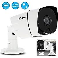 "KKmoon 1080P AHD Cámara Bala CCTV 2.0MP 3.6mm 1/3"" CMOS 36 IR LED Visión Nocturna IR-CUT Impermeable Indoor Outdoor PAL Sistema Seguridad para Hogar"