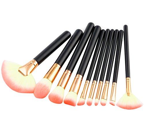 KAXIDY Maquillage Cosmétique 10 Pièces Brosse Maquillage Professionnel Maquillage Pinceaux Set (Style-B)