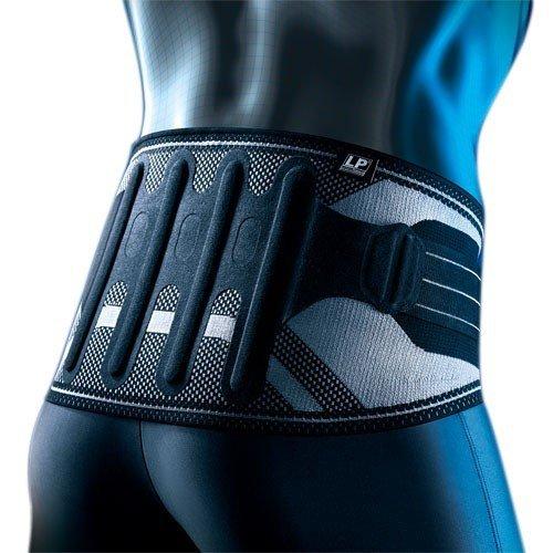 LP Support X-TREMUS 161XT aktive Rücken-Bandage 2.0 mit Zuggurten - Rückenschutz, Größe:L, Farbe:schwarz
