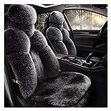 Seggiolino Auto copertura Protezioni Handmade peluche insieme combinato Con staccabili Poggiatesta Split Banco Full Size Bench Seat Covers Airbag for Hyundai KONA elettrico antigelo inverno e calore