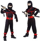 COSTUME DI CARNEVALE NINJA TAGLIA L 7-8 ANNI. Bellissimo costume da ninja compreso di tuta intera, cappuccio maschera, cintura, 2 cavigliere, 1 polsiera. Non sono presenti altri accessori oltre quelli qui descritti.
