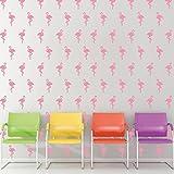 """Wallflexi, adesivi da muro rimovibili, stickers 'Fenicotteri"""", decorazione ufficio casa, vinile,..."""