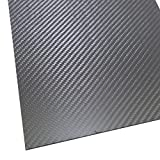 SHINA 1Pc 400 x 500 x 1mm 3K 100% Carbon Fiber Plate Panel Sheet 1 mm Thickness Matt Surface