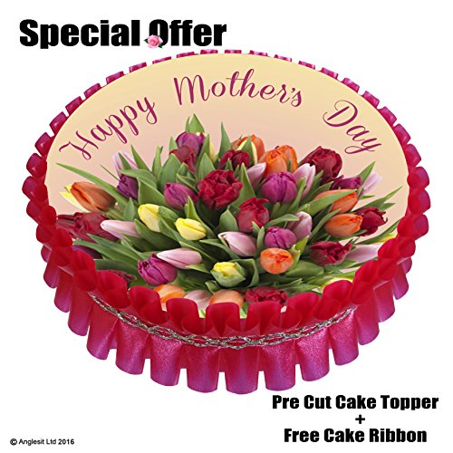 -happy-mothers-day-cake-set-mb-r6-7-18cm-edible-wafer-rice-paper-cake-topper-free-gift-red-cake-ribb