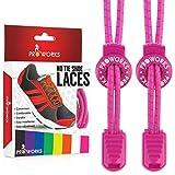 Proworks Lacets Sans Laçage | Elastique Lacets Pour Adultes e Enfants Baskets - Rose