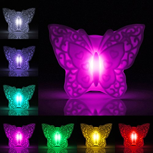 1Pcs TAN Night Light 10 colors for Bedroom Bathroom Battery Powered LED Kids Baby Nursery Lamp,LED Novelty Lamp Night Romantic Plastic Cute Lamp For Room Christmas Party Decor