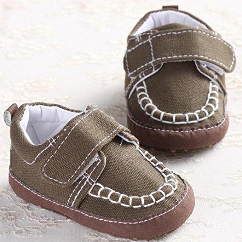 Hunpta Baby-Krippe Schuhe Kleinkind weiche Sohle Turnschuhe Freizeitschuhe (Alter: 0 ~ 6 Monate, Blau) Khaki