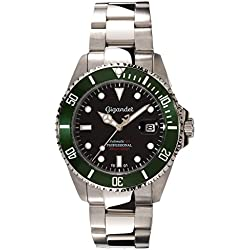 Gigandet Sea Ground Automatic Men's Analogue Diver Watch Black Green G2-005