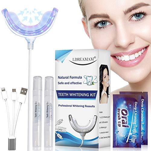 Kit Blanchiment Dentaire,Gel Blanchiment Dentaire, Professionnel Réutilisable Kit Dents Soins...