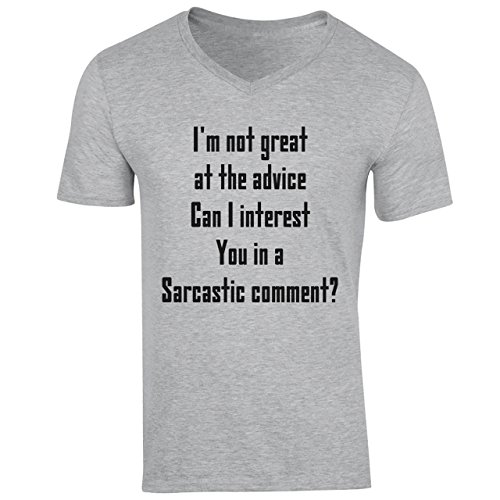 I'm Not Great At The Advice Can I Interest You In a Sarcastic Comment Small Uomini V-Neck