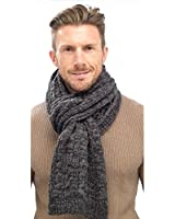 Mens Cable Knit Winter Scarf