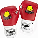 GIM Guanti del Pugilato per Bambini Boxe Allenamento kickboxing Sport da combattimento Gloves Indossabile / Resistente agli Guanti, 4 OZ, Rosso