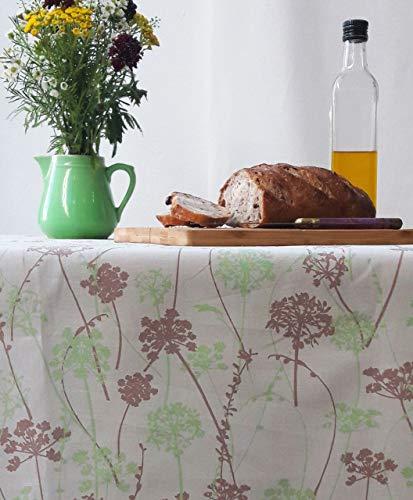 Fleur de Soleil N300EHEFTV Nappe rectangulaire anti-tache imperméable Tissu/Coupe franche Herbe/Taupe/Vert 300 x 160 x 0,2 cm