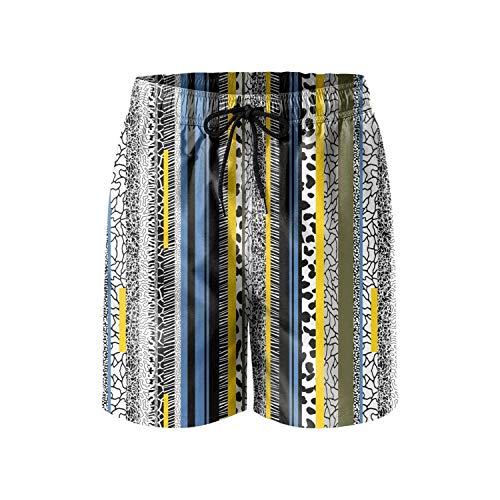 Custom Stripe Collage Fashion Mens Guys Short Beach Shorts,(L) Custom Fit Stretch Cap