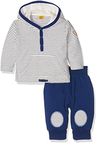 Steiff Baby-Jungen Bekleidungsset 2tlg. Set Sweatshirt 1/1 Arm + Jogg, Mehrfarbig (y/d Stripe 0001), 62