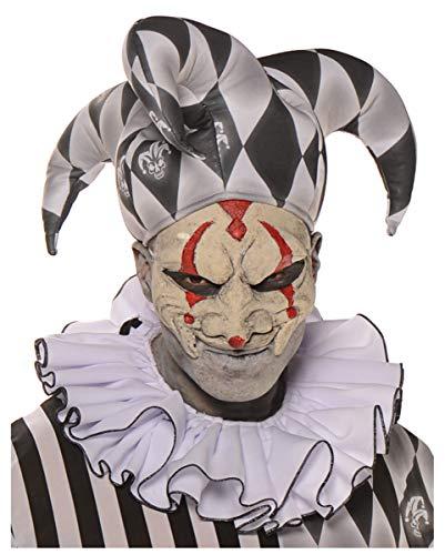 Horror-Shop Harlekin Latex Halbmaske für Fasching und ()