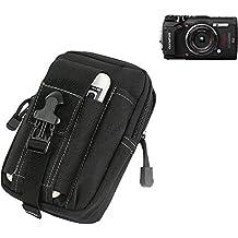 Per Olympus TOUGH TG-5 marsupio nero Custodia per fotocamera compatta borsa caso scomparti supplementari con spazio per la banca di potere, hard disk, ecc per Olympus TOUGH TG-5 - K-S-Trade(R)