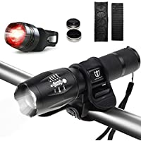 Degbit B077DC28MG, Degbit Bicycle Light Set With 3 Light Modes Water Resistant Easy To Mount Feature Black