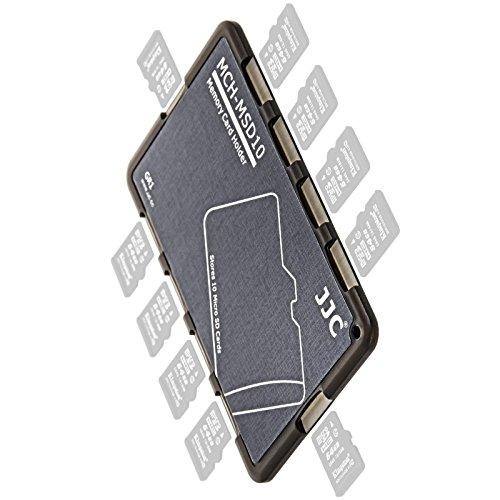 Extrem Kompaktes Speicherkartenetui Aufbewahrungsbox im Kreditkarten-Format fuer 10 x MicroSD - grau (Öse Einschub)
