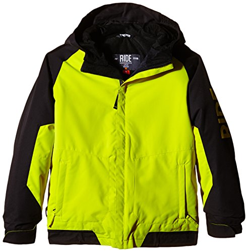 Ride Jungen Snowboardjacke Cobra Jacket W/Attached Hood, Limelight, L, 1243402.1.3