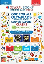 One for All Olympiad Previous Years' Solved Papers, Class-2 Mathematics Book (For 2021-22 Exam)