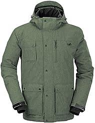 Playa urbana Olen esquí impermeable hombres chaqueta de invierno - verde, extra grande