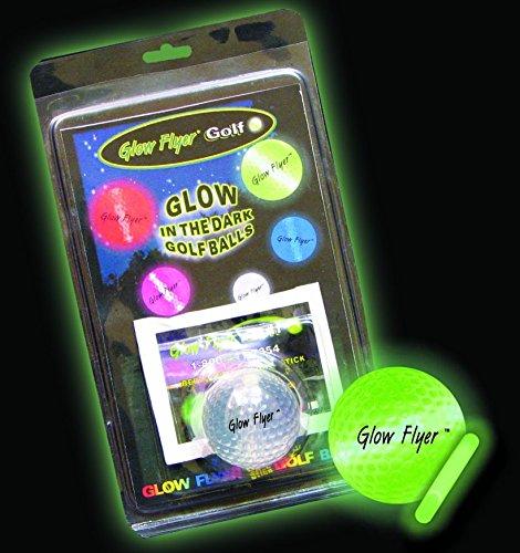 Glow Flyer Leuchtender Golfball - Nachtgolfball - Leuchtgolfball - Leuchtball | Nachtgolf