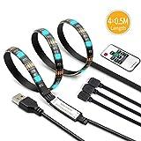 LED TV Hintergrundbeleuchtung 2m LED Steifen Kit für 40-60 Zoll TV, 5050 RGB Led Strip mit Fernbedienung USB Powered TV Beleuchtung