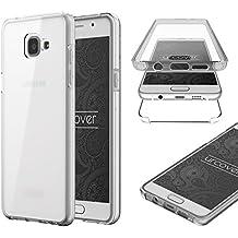 Samsung Galaxy A5 (2016) Housse Urcover [Nouvelle Version] Coque Tactile Samsung Galaxy A5 (2016) [Etui 360 Degrés] TPU Transparente Transparente Case Écran Integrale Tout Round