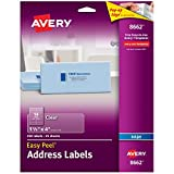 Easy Peel Inkjet Mailing Labels, 1-1/3 x 4, Clear, 350/Pack